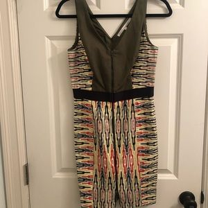 Rachel Roy zip front bodycon dress, size 4
